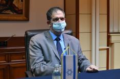 Minister Stefanović meets with Ambassador of Israel Vilan
