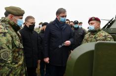 Председник Вучић: Захвалан сам свима који улажу много у нашу војску и верујем да ћемо додатним улагањима још оснажити нашу армију