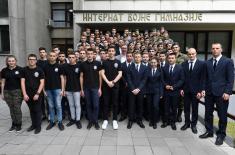 Председник Вучић обишао реконструисани интернат Војне гимназије