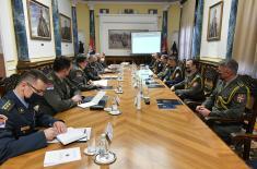Министар Стефановић на састанку са изасланицима одбране Србије