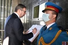 Predsednik i vrhovni komandant Vučić položio venac na spomenik Neznanom junaku na Avali