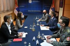 Minister Stefanović meets with UNDP Resident Representative Ms Francine Pickup