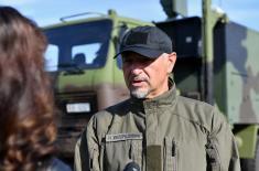 Ministar Vulin na prvom bojevom gađanju iz bespilotne letelice CH-92A