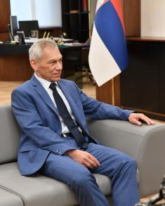 Meeting between Minister Stefanović and Ambassador of Russian Federation Kharchenko