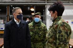 Minister Stefanović inspects final preparations of temporary Covid hospital at Novi Sad Fair