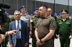 Ispraćaj gardista koji će učestvovati na Paradi pobede u Moskvi