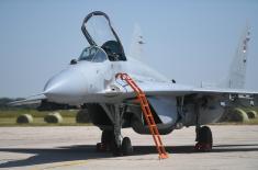 Свечани пријем авиона МиГ-29 из Републике Белорусије