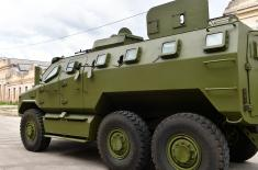 The new M-20 MRAP 6x6 armoured fighting vehicle presented