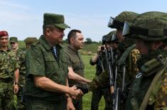 "Minister Vulin and General Ravkov attend practice within the framework of ""Slavic Brotherhood 2019"" Exercise"