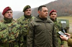 Minister Vulin: Serbia can be secure, stable, and peaceful when it has such an army