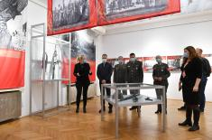 "Minister Stefanović visits exhibition ""War Image of Serbia in Second World War, 1941-1945"" in Central Military Club"
