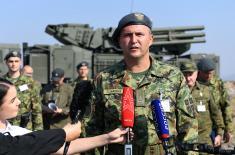 "Gađanje iz borbenih sredstava ""Pancir S1"" u okviru vežbe ""Slovenski štit 2019"""