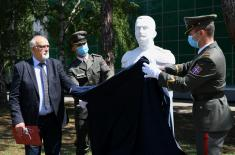 The ceremony on the occasion of unveiling the bust of General Jovan Mišković and the inauguration of the Memorial Room at the Military Academy