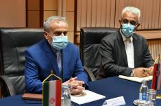 Minister Stefanović meets with Ambassador of Islamic Republic of Iran Pour Baei