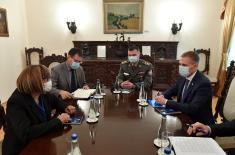 Minister Stefanović meets with Minister Gojković