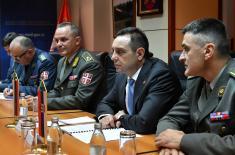 Sastanak ministra Vulina sa  komandantom Zapadnog vojnog okruga generalom Žurovljevim