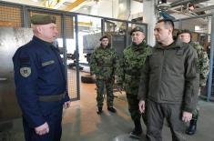 Министар Вулин обишао најбољи батаљон Копнене војске