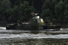 Осавремењена Речна флотила на вежби Видра 2018