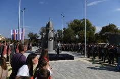 Monument unveiled to Iron Regiment in Prokuplje