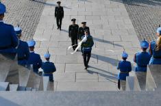 Потпредседник Централне војне комисије НР Кине положио венац на Споменик незнаном јунаку на Авали