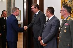 Састанак председника Вучића са врховним командантом Савезничких снага за Европу генералом Волтерсом