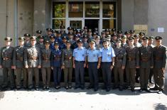 The youngest officers admitted to units of the Serbian Armed Forces