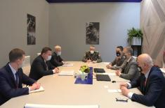 Minister Stefanović meets with Mr Pantus, Minister of State Authority for Military Industry of Belarus