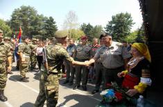 Свечаност полагања војничке заклетве у Лесковцу