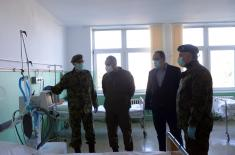 Minister Vulin: Karaburma Military Medical Centre is ready to admit patients