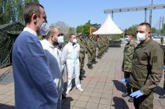 Ministar Vulin: Prva linija fronta na kojoj su pripadnici Vojske i vojnog zdravstva nije pala
