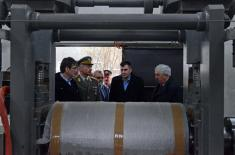 Defence Minister visits factories in Lučani and Čačak