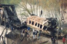 Dvadeset godina od raketiranja voza u Grdelici