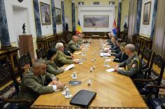 Minister of Defence with the Chief of General Staff of Romania
