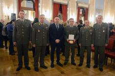 """Sergeant First Class Ristić the Winner of the Recognition the """"Noblest Deed of the Year"""""""