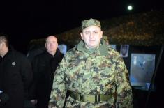 Министар одбране дочекао Нову годину с припадницима 250. ракетне бригаде