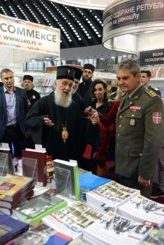 "Патријарх Иринеј посетио штанд Медија центра ""Одбрана"""