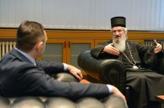 Meeting of Minister Vulin and Bishop of Šumadija and Military Bishop Jovan