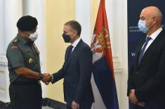 Састанак министра Стефановића са делегацијом Стратегијске обавештајне агенције Оружаних снага Индонезије