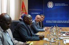 Састанак министра одбране са државним министром за ветеранске послове Уганде
