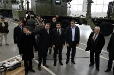 Defence Minister visits Complex Combat Systems in Velika Plana