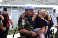 Smena srpskog kontingenta angažovanog u multinacionalnoj operaciji u Libanu