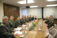 Head of the Hungarian Medical Services visiting our Military Health Department