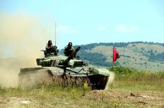 "Minister Vulin and General Mojsilović at Preparation for ""Tank Biathlon"""