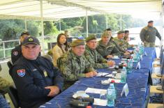Tactical exercise of river units of Serbia and Hungary