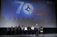"Premiere of the movie ""Gladly does the Serb become a soldier"""