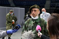 Minister Vulin in the Štark Arena: All members of the military are doing their best to help their country now when it is most needed