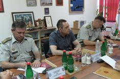 Minister Vulin with the Representatives of Chaplains Service