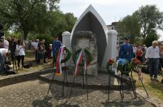 Wreaths laid on the monument to Senta battle