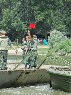 Training of Reserve of the Second Pontooneer Battalion of the River Flotilla