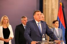 Председник Вучић: Опредељени смо за дијалог, очување мира и стабилности